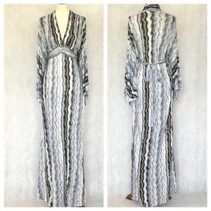 Ella Moss Batwing Sleeve Kimono Style Maxi Dress